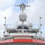 ペルー極地調査船BAPカラスコ号に搭載された船舶用アンテナ