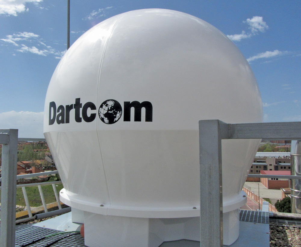 Dartcomラドーム-密閉型1.5m陸上アンテナ